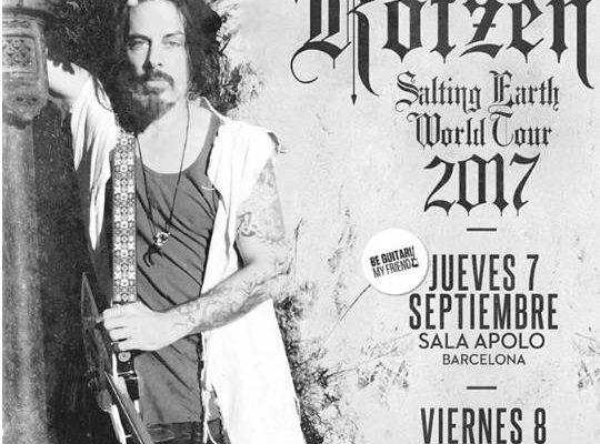 Conciertos de Richie Kotzen en España 2017