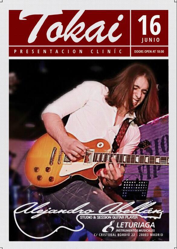 Clinic de Alejandro Abellán y Tokai Guitars en Madrid