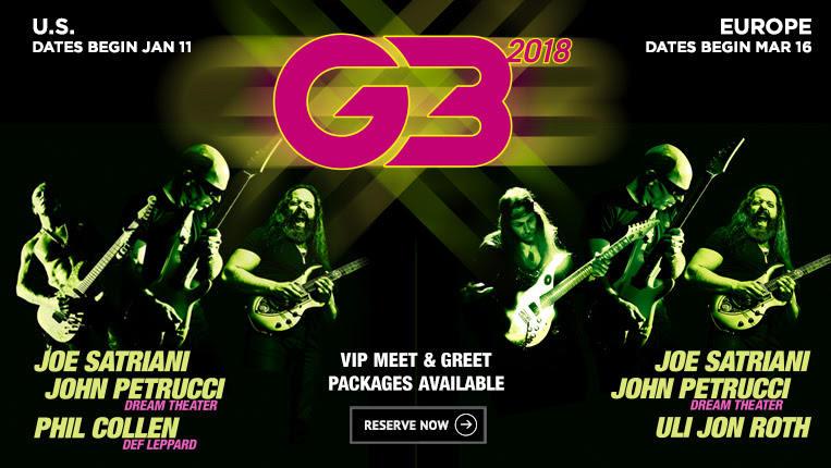 Conciertos en España del G3: Joe Satriani, John Petrucci y Uli Jon Roth