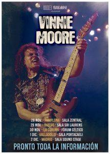Conciertos de Vinnie Moore en España (2018)
