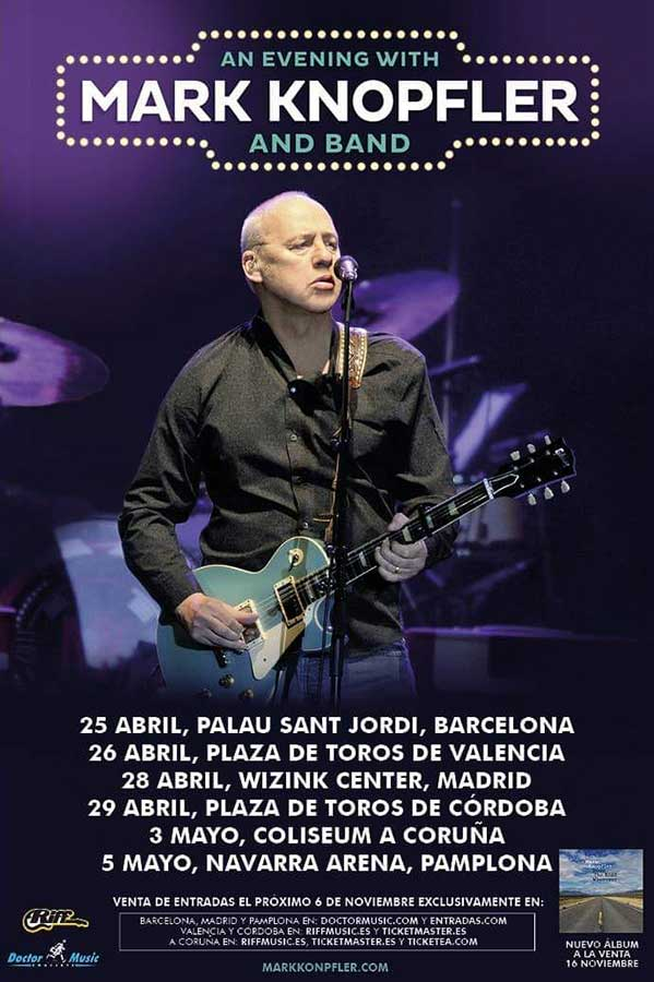 Conciertos de Mark Knopfler en España 2019