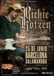Richie Kotzen: concierto en Barcelona en junio (2019)