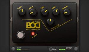 TSE audio B.O.D plugin VST/AU overdrive para bajo gratis