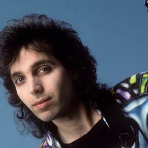 Young Joe Satriani with hair
