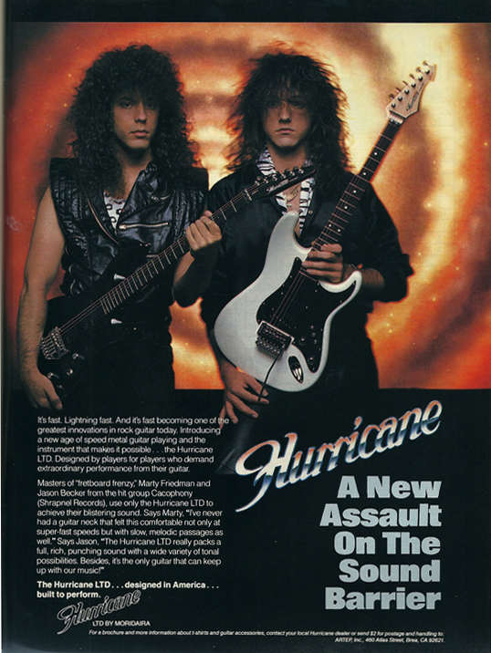 Hurricane Guitars Jason Becker Marty Friedman Cacophony