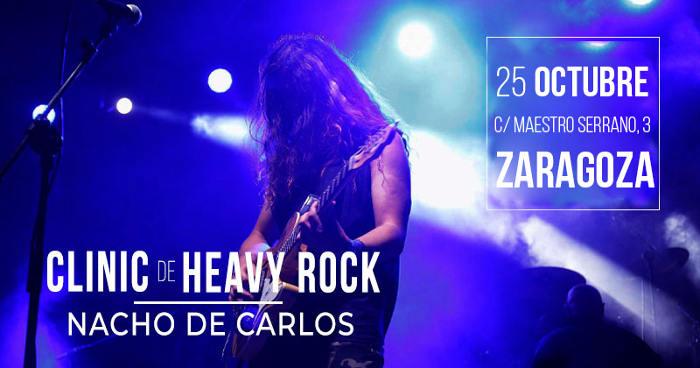 Nacho de Carlos: clinic de guitarra heavy rock en Zaragoza